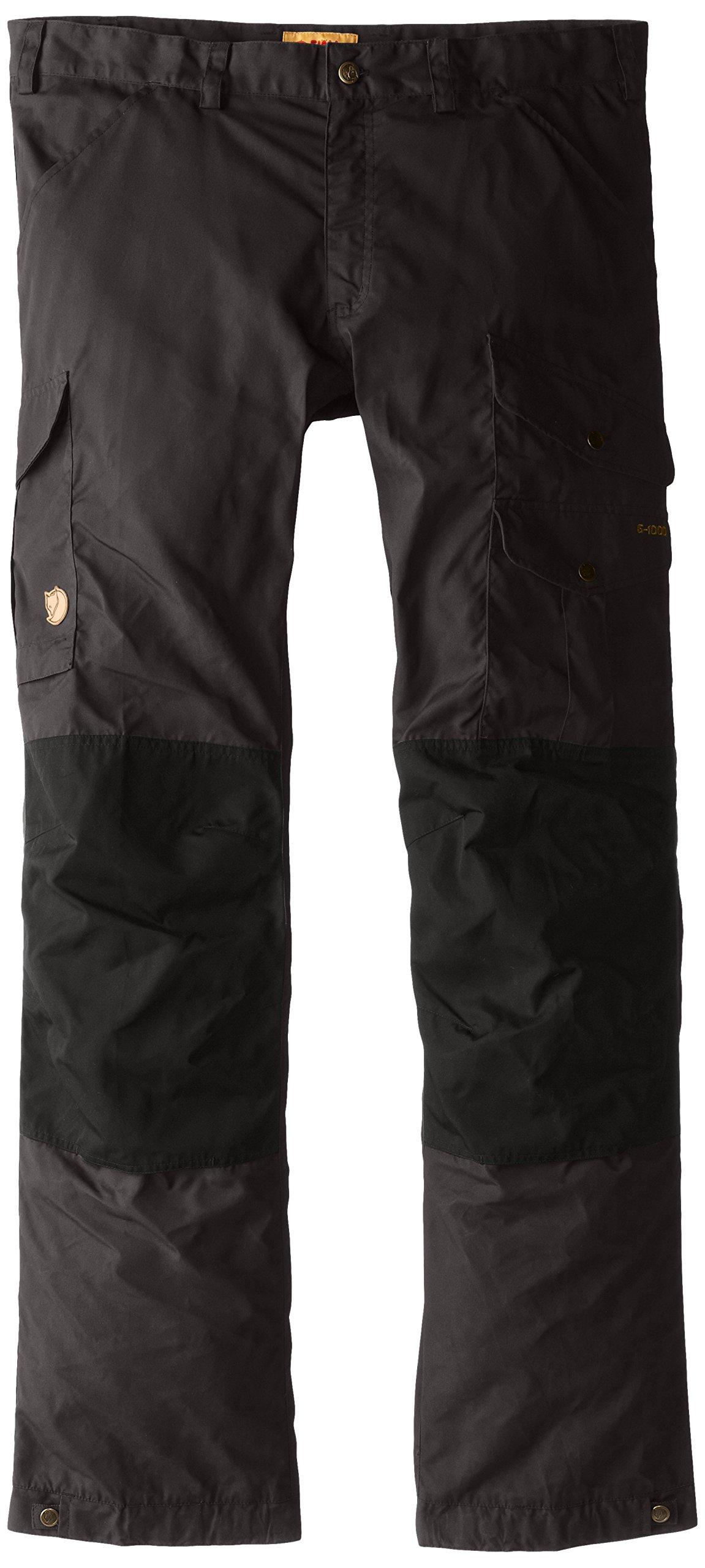 Fjallraven Men's Vidda Pro Trousers Regular, Dark Grey/Black, 58