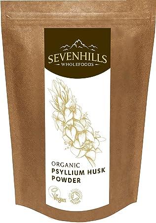 Sevenhills Wholefoods Cáscara De Psyllium En Polvo Orgánico 500g: Amazon.es: Salud y cuidado personal