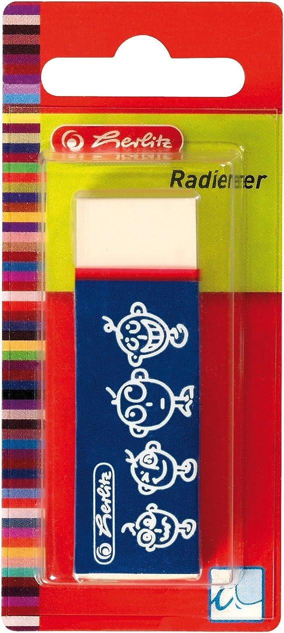 Herlitz Radierer mit Schiebeh/ülse Synthesekautschuk f/ür Graphit