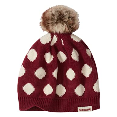 54e5d52e0db Image Unavailable. Image not available for. Color  Genuine Subaru Ladies   Polka Dot Beanie Cap Hat Sti Impreza Forester Outback Red