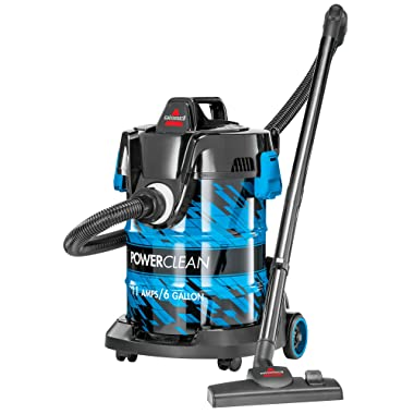 Bissell 2035A Power Clean Wet/Dry Garage Vacuum Cleaner, Blue Powerclean