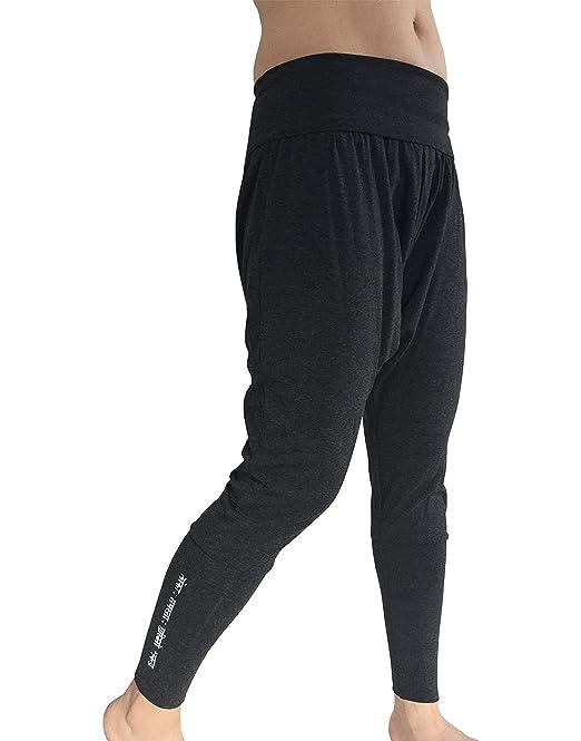 b56a4c6259 Karmala Bamboo Baggy Harem Pants, Soft and Eco-Friendly, Small, Dark Grey