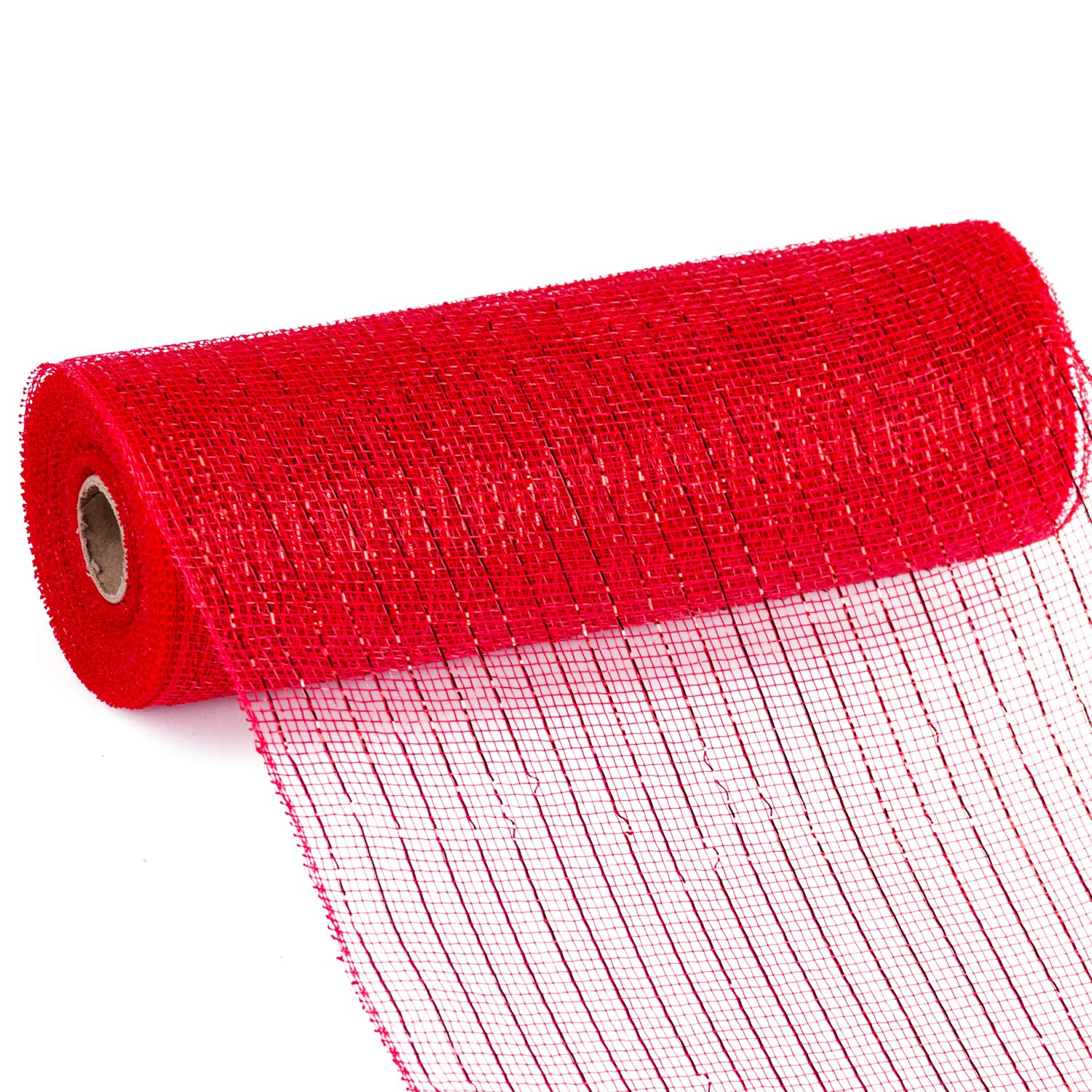 LaRibbons Deco Poly Mesh Ribbon - 10 inch x 30 feet Each Roll - Metallic Foil Red/Royal/White/Navy Set for Wreaths, Swags and Decorating - 4 Pack by LaRibbons (Image #5)