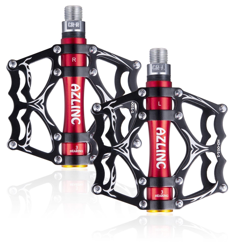 Aluminium Rutschfest BMX Mountainbike Rennrad Pedale 9//16/'/' Fahrrad Pedalen mit 3 Abgedichtete Lager Azlinc MTB Pedal Fahrradpedale