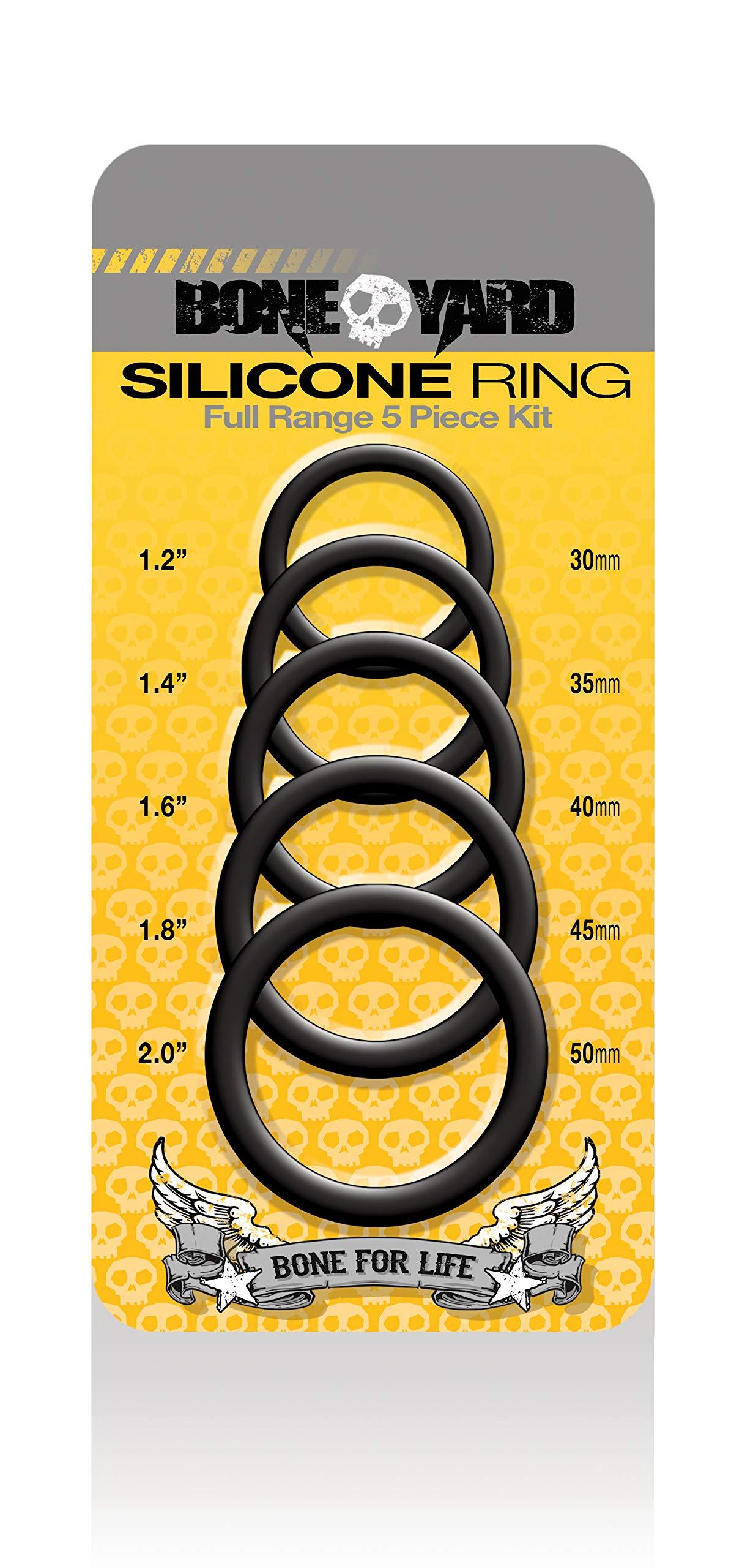 RASCAL Boneyard Silicone Ring 5 Piece Kit, Black, 0.2 Pound