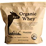 Raw Organic Whey - USDA Certified Organic Whey Protein Powder, Happy Healthy Cows, COLD PROCESSED Undenatured 100% Grass Fed Organic Whey Protein Powder, NON-GMO (5 LB)