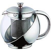 Bule com infusor de Chá 900 ml inox e vidro 5508KH