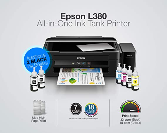 Epson L380 Multi-Function InkTank Colour Printer (Black)