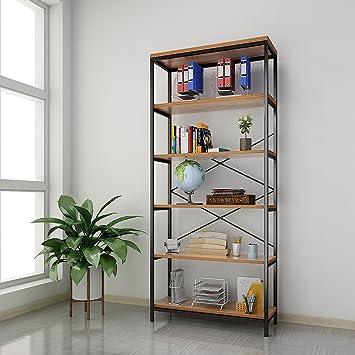 Oficina 180 x 80,3 x 30cm Cocina Himimi Estante para Libros Librer/ía Estilo Industrial de 5 niveles estanter/ía de almacenamiento para Sal/ón