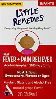 Little Remedies Infant Fever & Pain Reliever | Natural Grape Flavor | 2 FL OZ