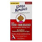 Little Remedies Infant Fever & Pain Reliever | Natural Grape Flavor | 2 FL OZ