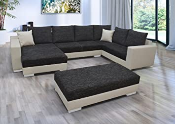Eckcouch u form  Sofa Couch Wohnlandschaft Garnitur Multi U Form Rana Collection ...