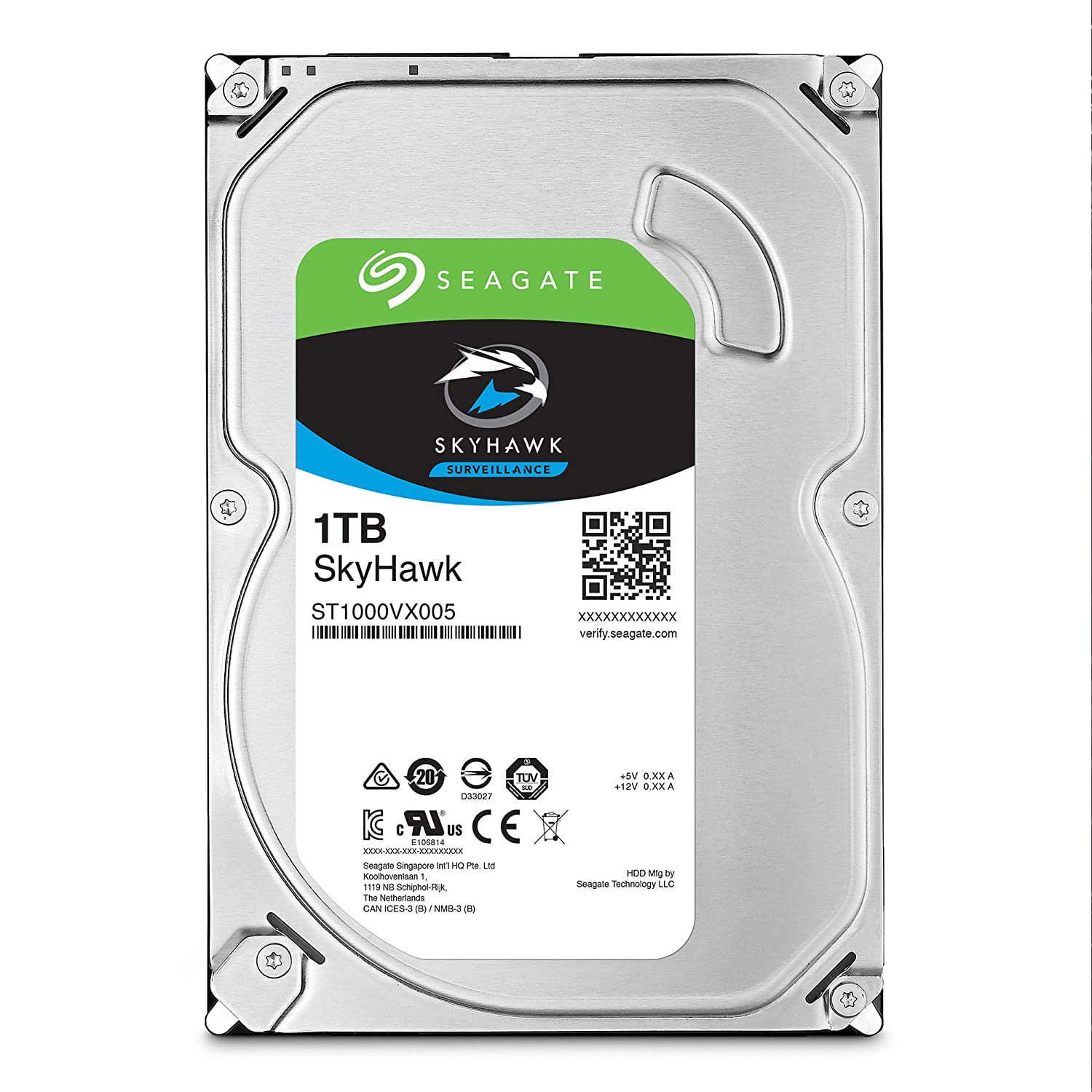 Seagate Skyhawk 1TB Surveillance Internal Hard Drive HDD – 3.5 Inch SATA 6Gb/s 64MB Cache for DVR NVR Security Camera System with Drive Health Management – Frustration Free Packaging (ST1000VX005)