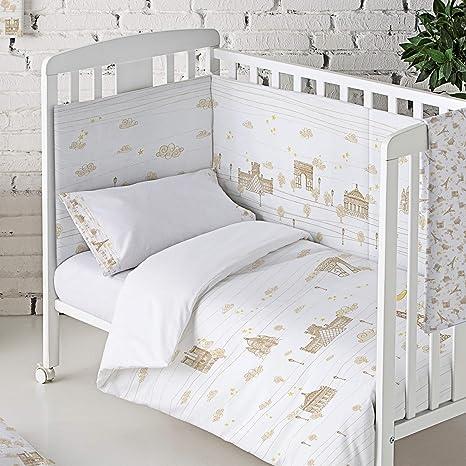 Protector de cuna 40 x 180 cm Eiffel Baby Francia color beige