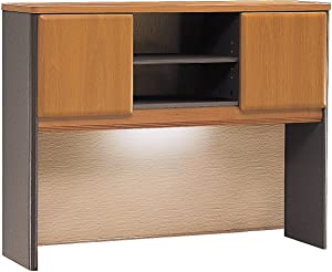Bush Business Furniture Series A Collection 48W Hutch in Natural Cherry/Slate