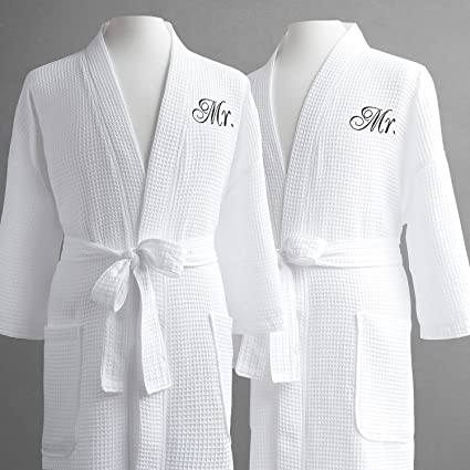 Set of 3 Mens Waffle Robes Monogrammed Dad Robe, Fathers Day Robe Mens Waffle Robe, Mens Robe, Groom Robe, Spa Waffle Robe