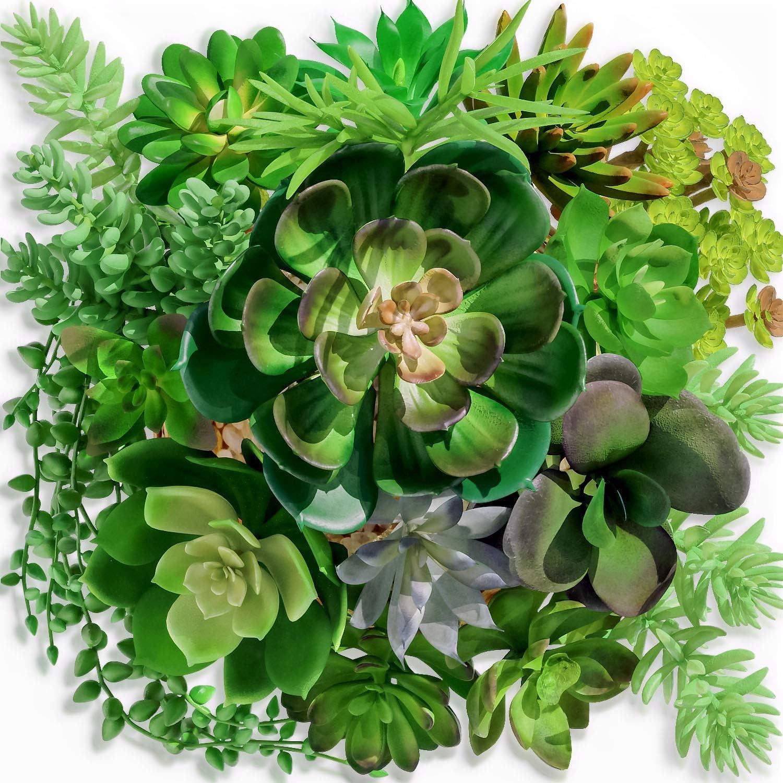Set of 10 Premium Quality Assorted Artificial Succulent stems natural lifelike