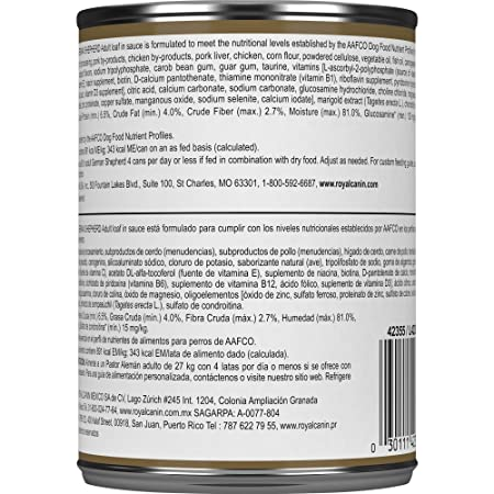 Royal Canin Breed Health Nutrition German Shepherd Loaf In Sauce Dog Food, 13.5 Oz: Pet Supplies: Amazon.com