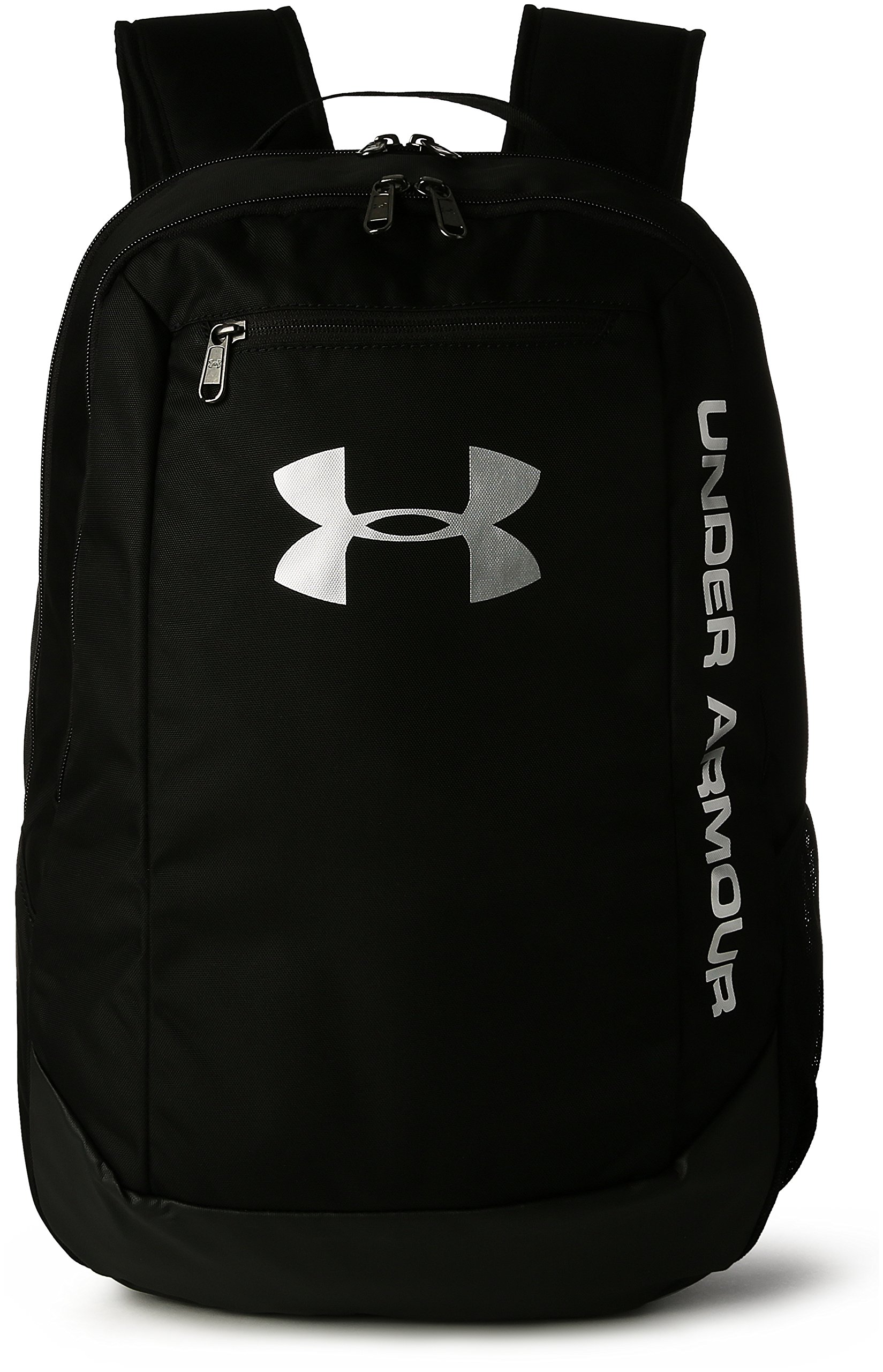 Under Armour UA Hustle Backpack Ldwr Mochila, Hombre, Negro Black/Silver 001, Talla única