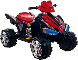 Ride On Toy Quad, Battery Powered Ride On Toy ATV Four Wheeler With Sound Effects by Lil' Rider– Toys for Boys and Girls, 2 - 5 Year Olds (Black)