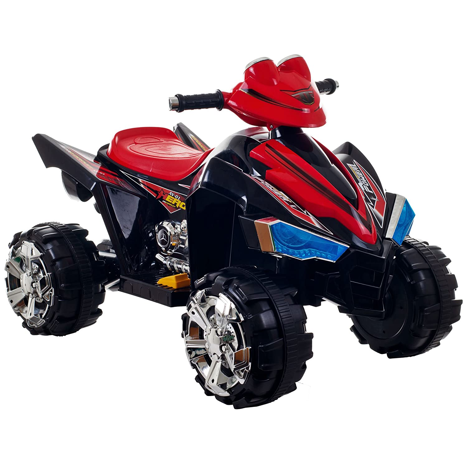 Amazon.com: Ride On Toy Quad, Battery Powered Ride On Toy ATV Four Wheeler  With Sound Effects by Lil' Rider – Toys for Boys and Girls, 2 - 5 Year Olds  ...