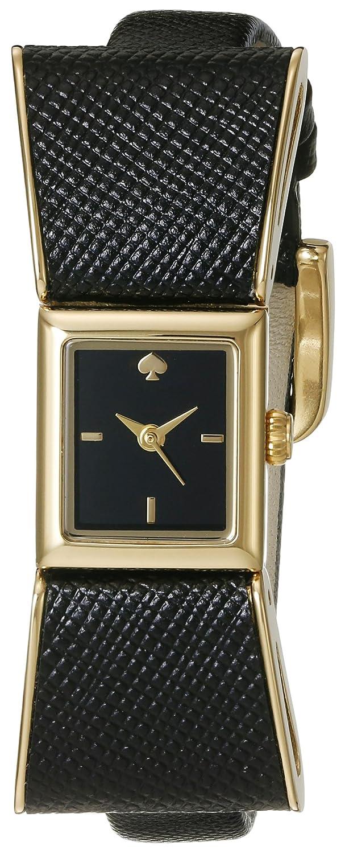 kate spade new york Goldtone Kenmare Black Leather Watch