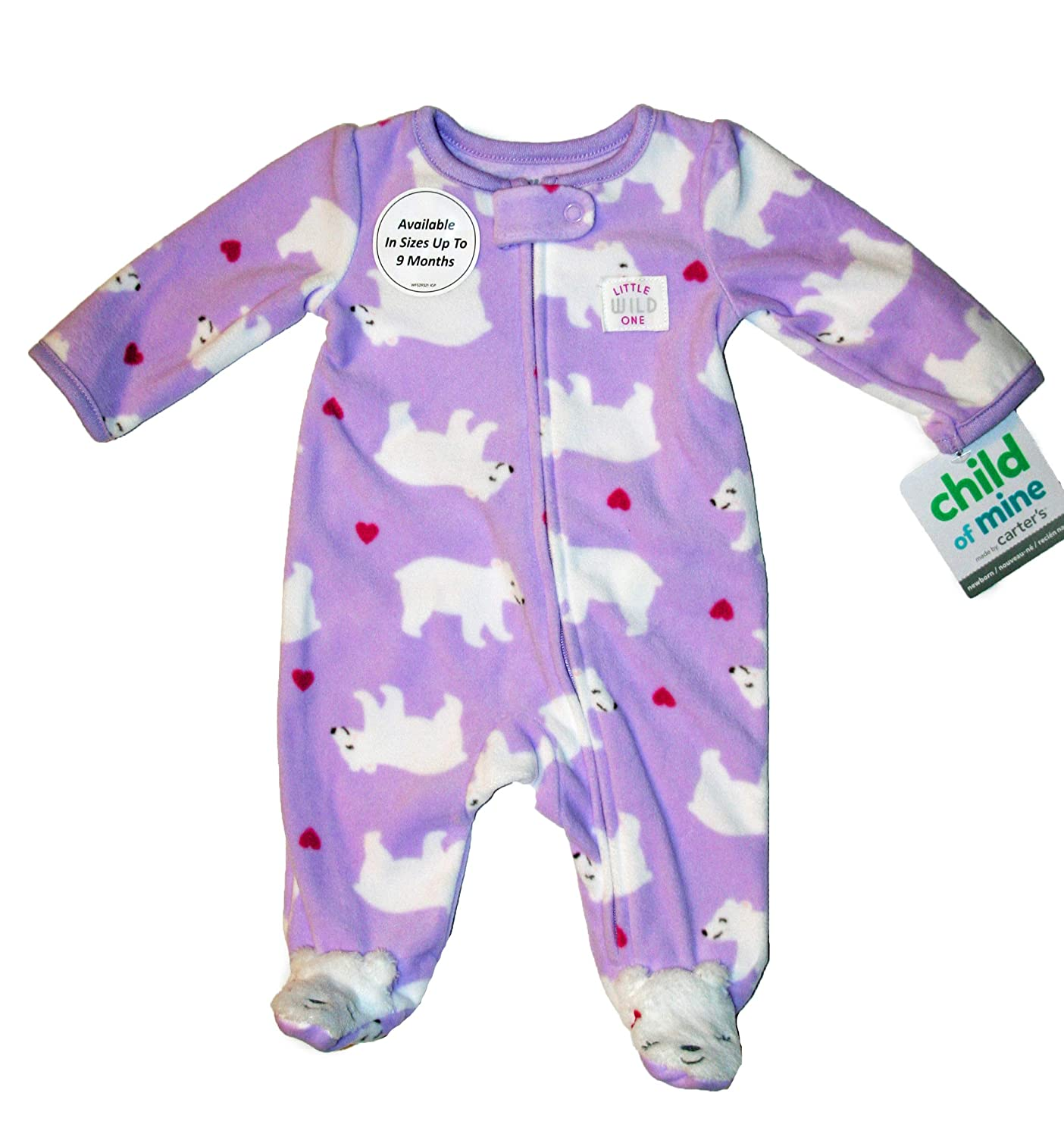af317965f Amazon.com  Child of Mine by Carter s Girls Lavender with White ...