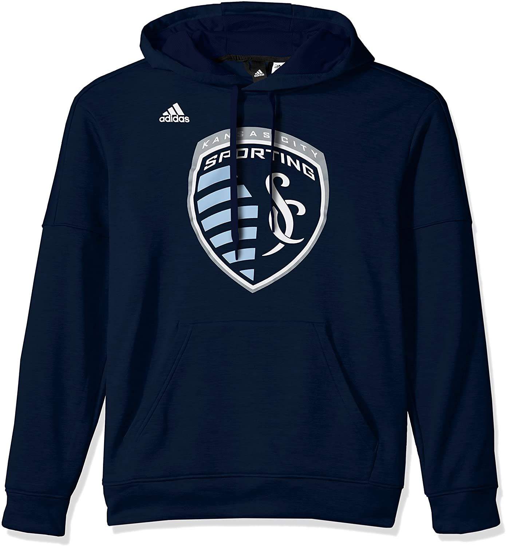 adidas MLS mens Logo Set Team Issued Fleece Hood