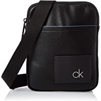 Calvin Klein Ck Direct Mini Flat Crossover Messenger Bag, Black, 20 cm K50K504602