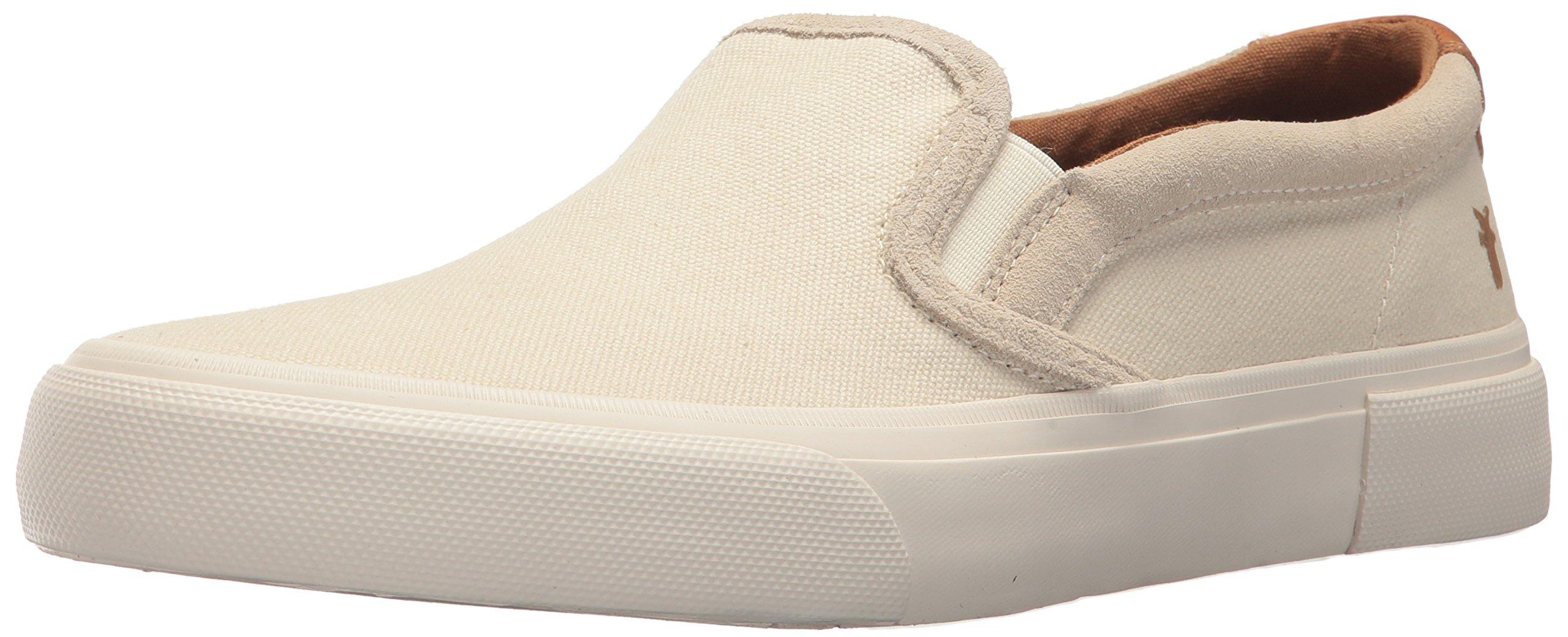 FRYE Men's Ludlow Slip On Sneaker, Off White, 11 M M US