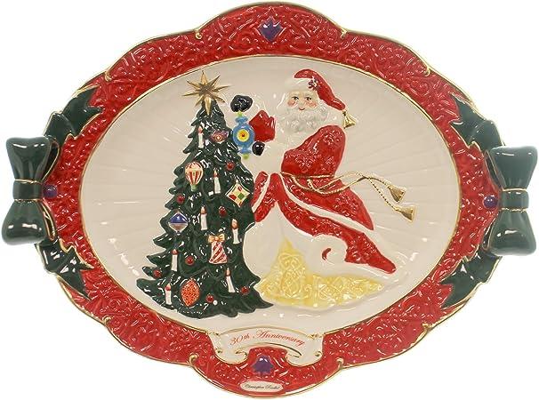 Christopher Radko colgante w/Joy plato cerámica 30th aniversario ...