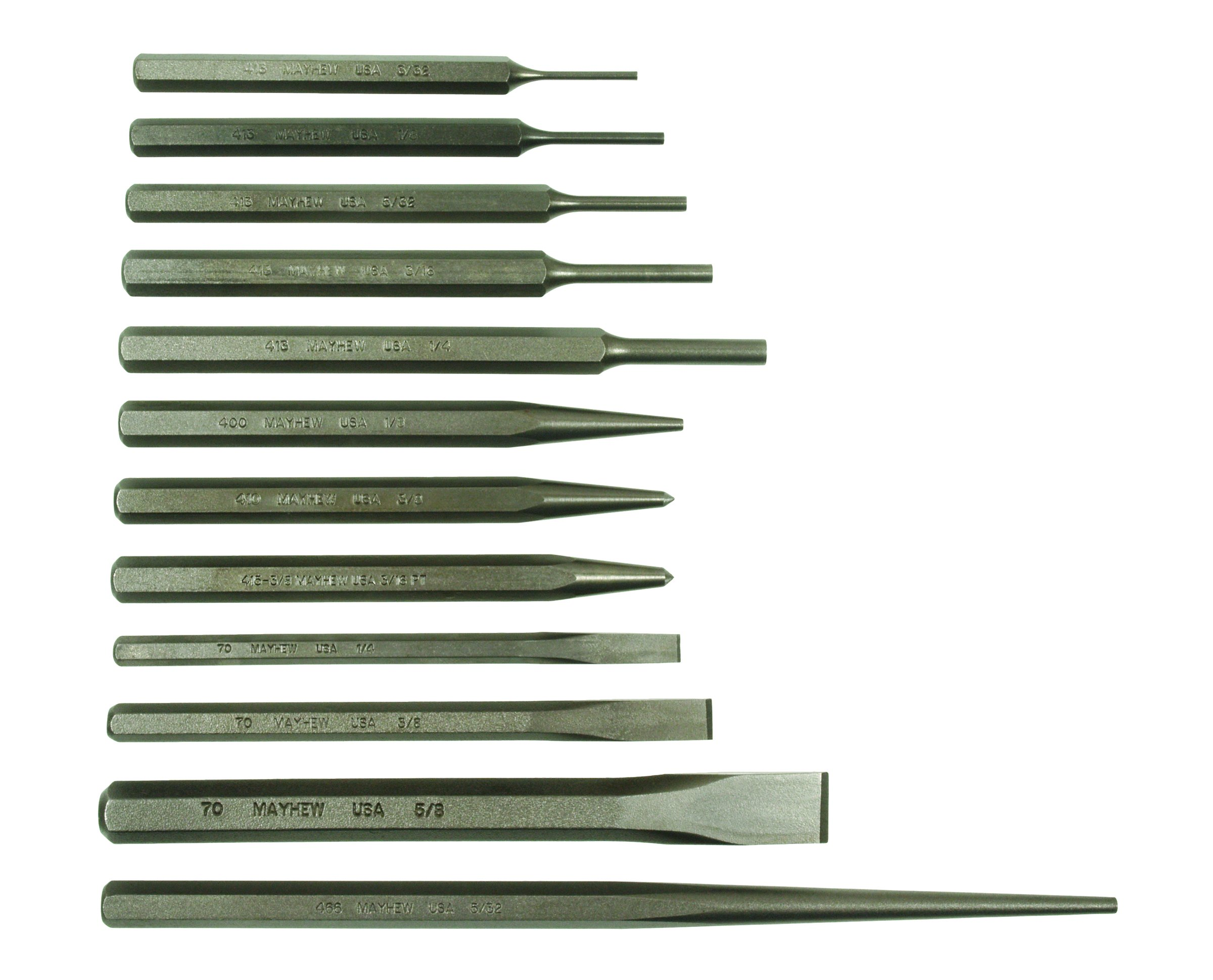 Mayhew Select 61040 Punch and Chisel Set, 12-Piece