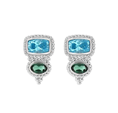 f4a826497 Judith Ripka Harmony 2 Stone Stud Earrings - Seaside: Amazon.co.uk:  Jewellery
