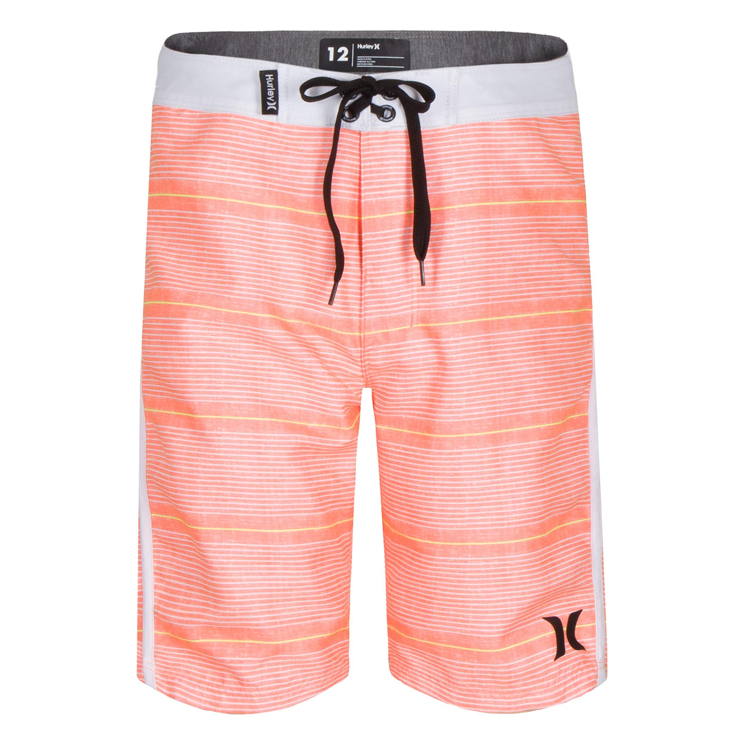 Hurley Big Boys' Board Shorts, Bright Mango, 18