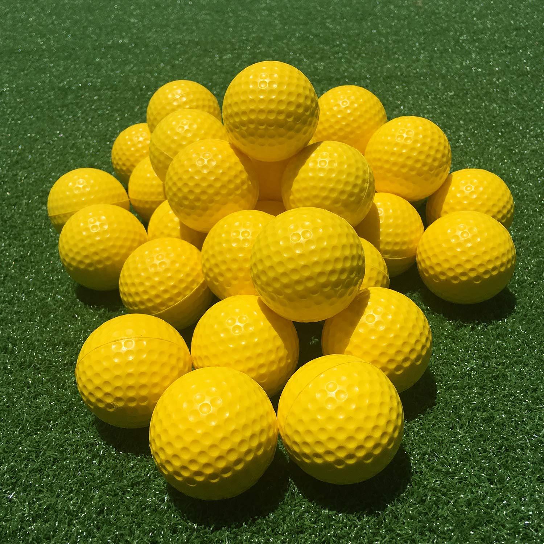 SkyLife Golf Practice Balls 24 Count, Soft Golf Foam Balls for Indoor Outdoor Backyard Training (Yellow 24pcs) by SkyLife