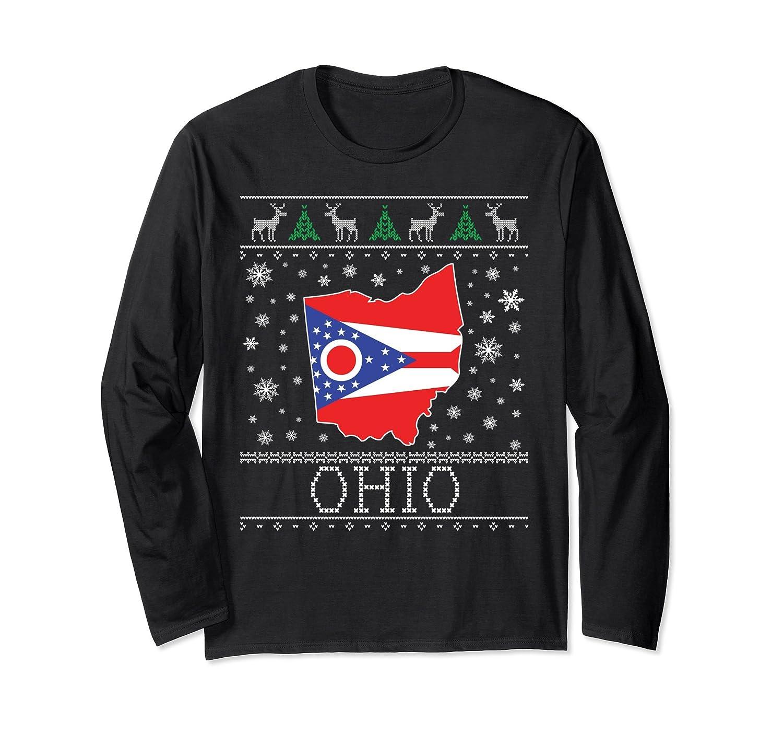 Ohio State Ugly Christmas Sweater.Amazon Com Ohio Ugly Christmas Sweater Long Sleeve Shirt Cm