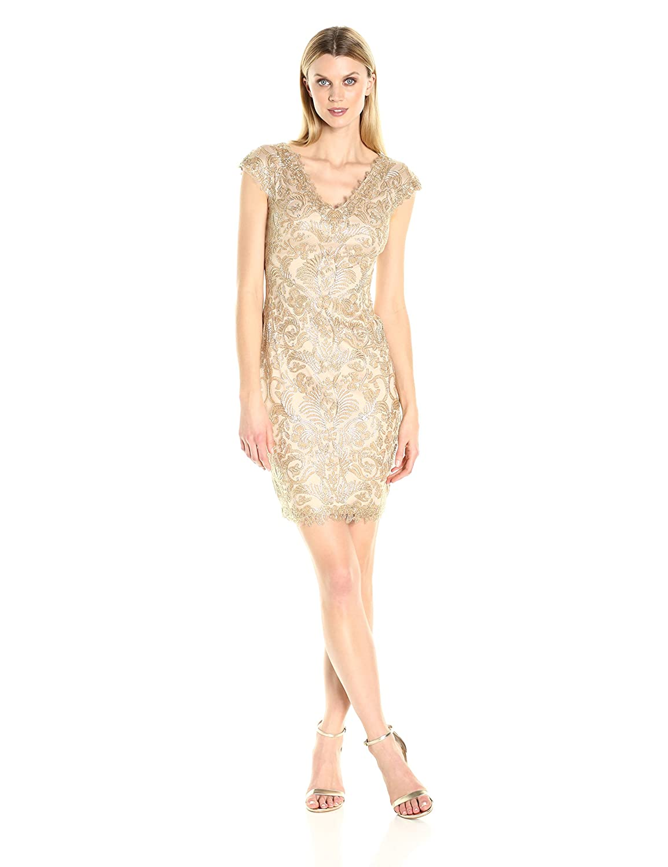 Amazon.com: Tadashi Shoji Women\'s Corded Lace Dress: Clothing