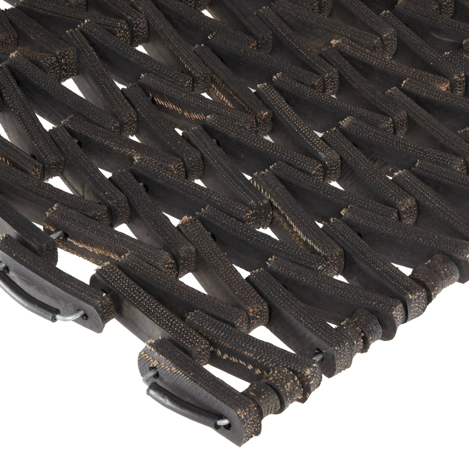 Durable Corporation 108 Recylcled Tire-Link Anti-Fatigue Mat, for Wet Areas, Herringbone Weave, 36'' Width x 120'' Length x 5/8'' Thickness, Black