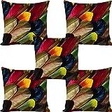 Swasiya™ Jute Printed Digital Desgin Decorative Sofa Cushion Cover Pack of 5 (40x40 cm or 16x16 Inch)- Set of 5 // Design - 191