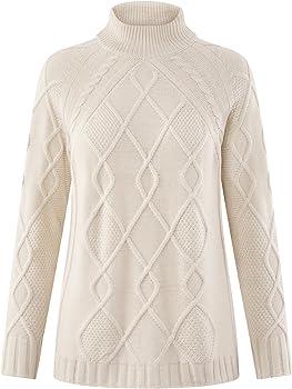 oodji Collection Mujer Jersey de Punto Texturizado con Cuello Alto ...