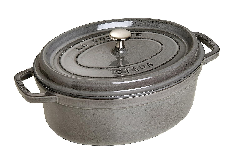 Staub Oval Dutch Oven 7-quart Graphite Grey