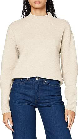PIECES Pcskyla LS O-Neck Wool Knit Suter Pulver para Mujer