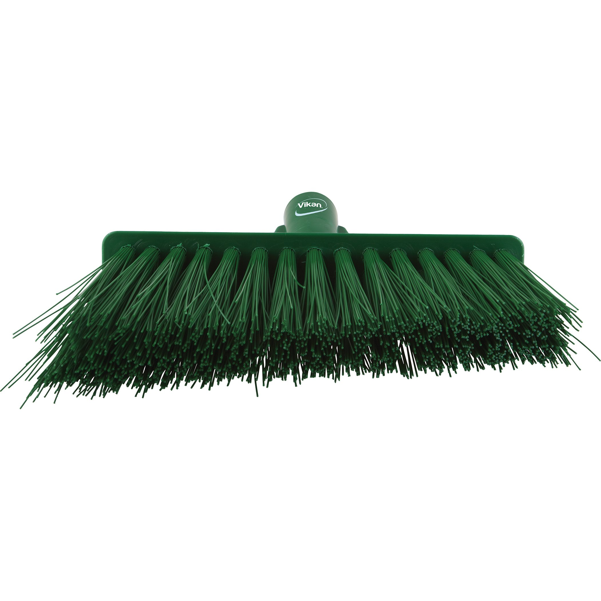 Vikan 29142 Heavy Duty Sweep Floor Broom Head, PET Bristle, Polypropylene Block, 11'', Green