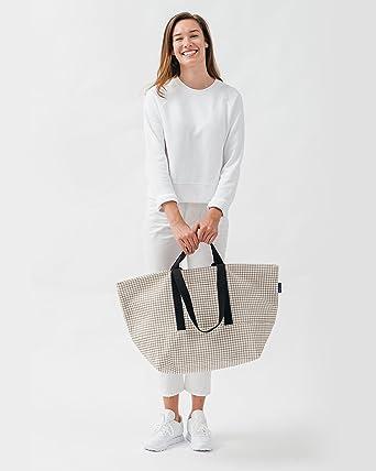 Amazon.com | BAGGU Weekend Bag 2 - Natural Grid | Luggage & Travel ...