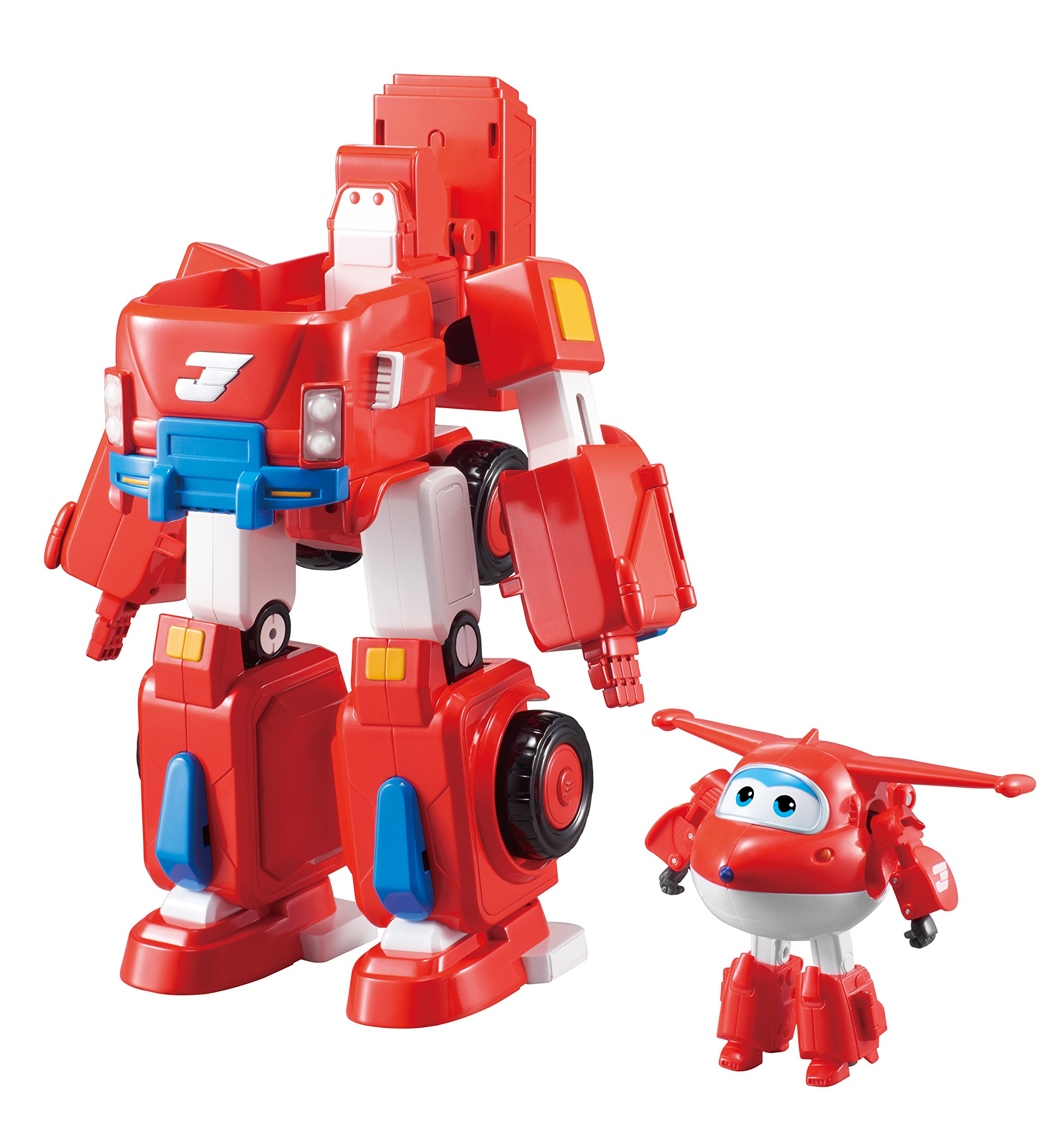 Super Wings - Jett's Super Robot Suit Large Transforming Toy Vehicle | Includes Jett | 5'' Scale by Super Wings - (Image #2)