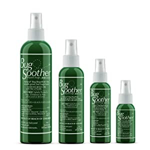 BUG SOOTHER Spray Family Pack Includes Free Bonus 1 oz. Travel Size. - Natural Mosquito, Gnat and Insect Deterrent & Repellent with Essential Oils - Safe for Adults, Kids, Pets, Environment