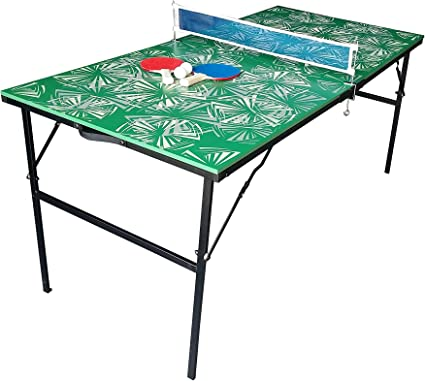 JT2D Mesa de Ping-Pong Plegable – Verde con o sin Motivos para ...