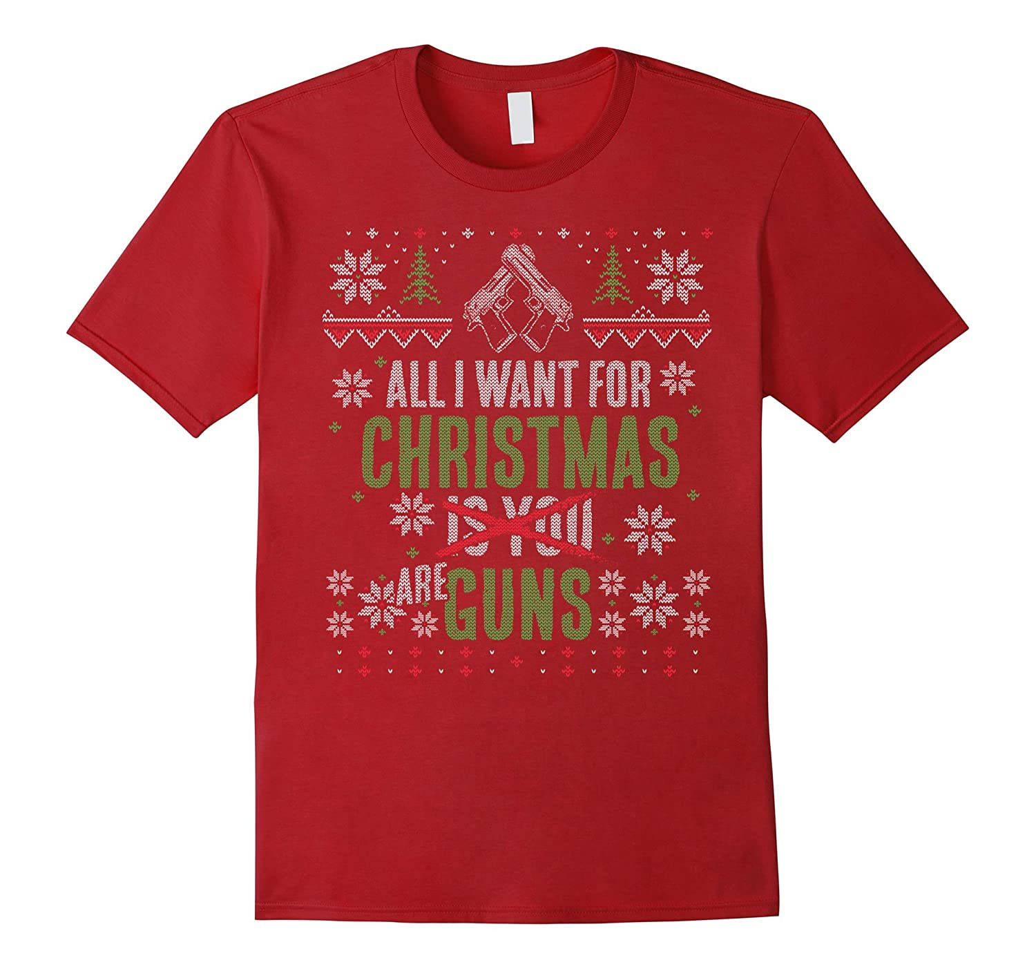 Awesome Ugly Christmas Gun Rights T-Shirt-ANZ
