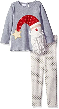 c94084d83 Amazon.com: Mud Pie Baby Girl Holiday Two Piece Playwear Set: Clothing