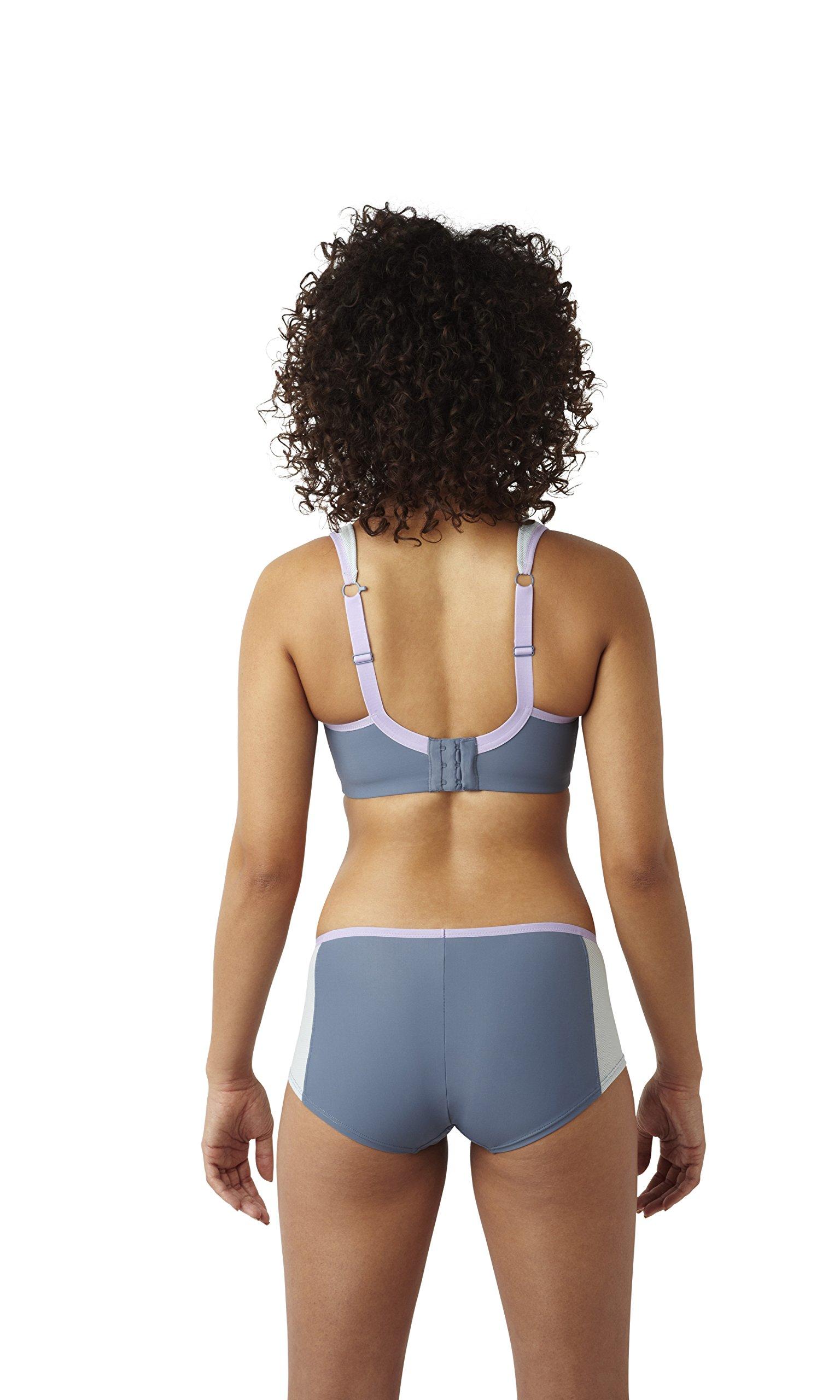Panache Women's Plus Size Wired Sports Bra, Grey 28DD by Panache (Image #5)